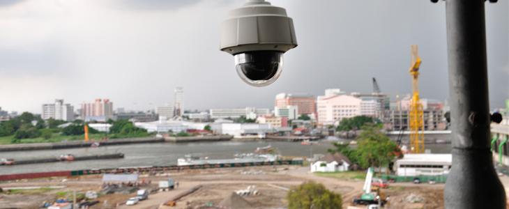 Protection de chantier camera de surveillance